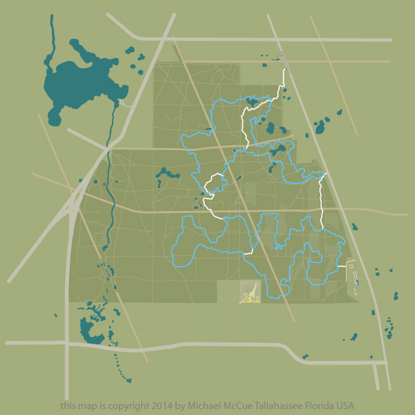 This is a map of the Munson Hills Mountain Bike Trail.