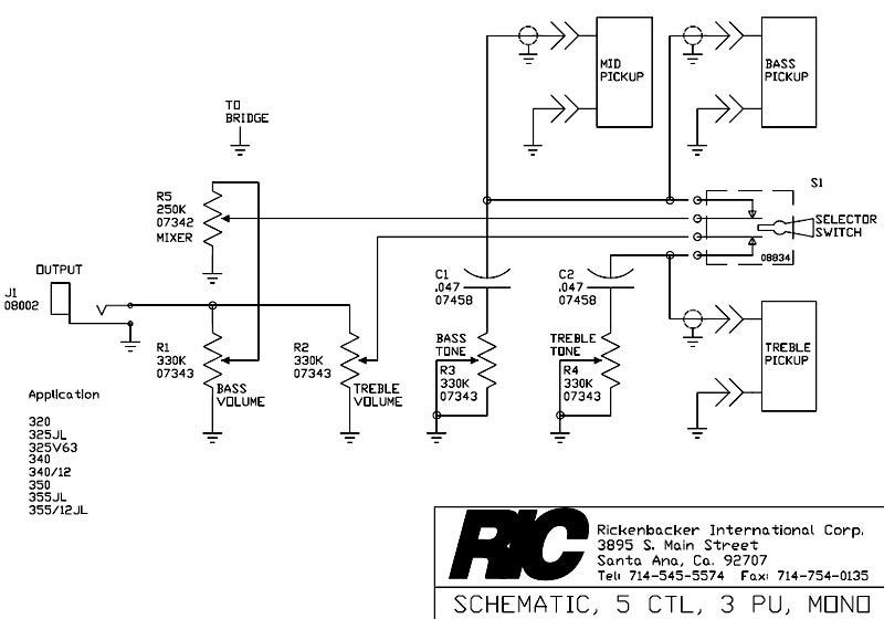 Rickenbacker Guitar Wiring Diagram : Rickenbacker wiring diagram images