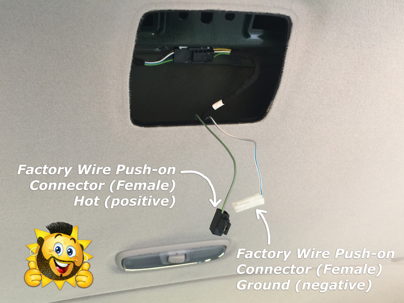 Ford Transit Wagon >> Add a switch for the ceiling dome light in the rear cargo ...