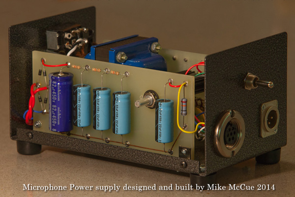 This is a photo of a DIY power supply for a microphone.