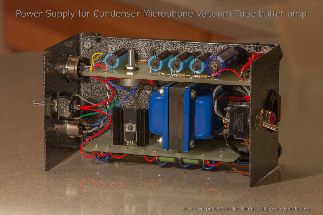 Power supply for condenser microphone tube buffer amp | Cakewalk Forums