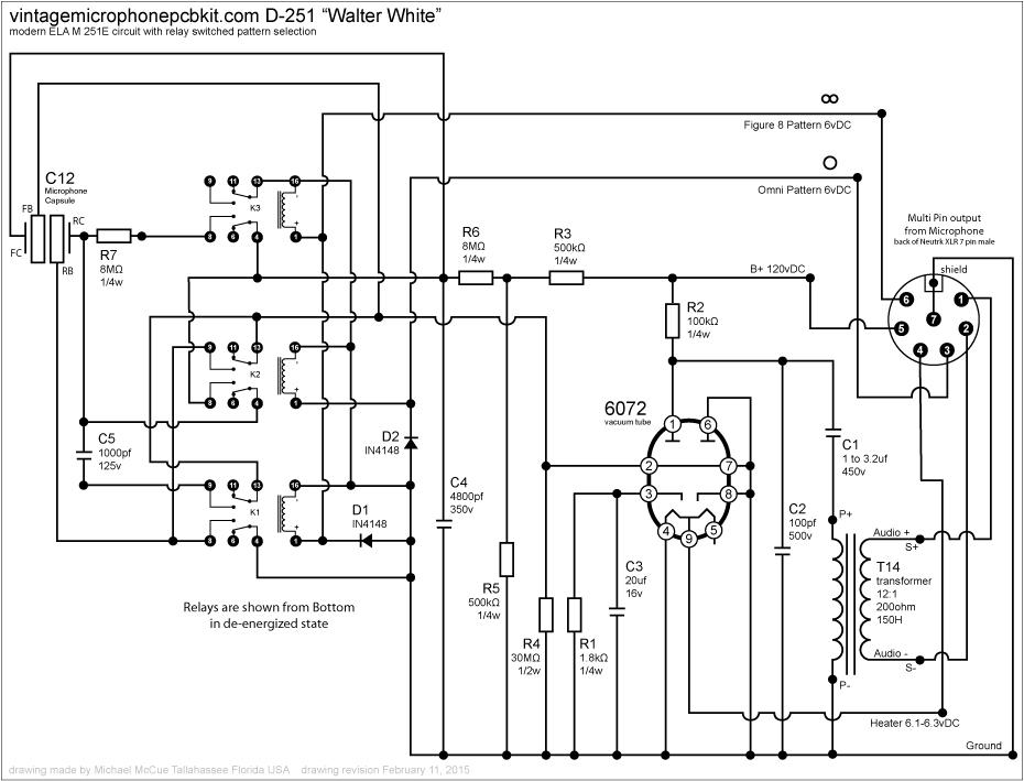 telefunken ela m 251 clone tube microphone build thread d ela m 251e rh groupdiy com Cobra 4 Pin Wiring Diagram Realistic Mic Wiring Diagram